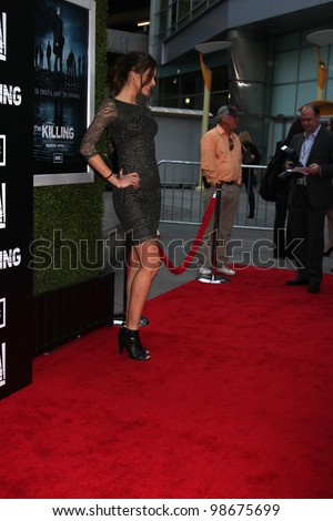 """LOS ANGELES - MAR 26:  Dayana Mendoza arrives at  the AMC's """"The Killing"""" Season 2 Premiere at the ArcLight Theaters on March 26, 2012 in Los Angeles, CA - stock photo"""