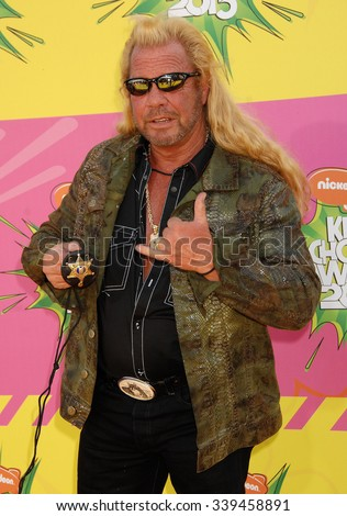 LOS ANGELES - MAR 23 - Duane Chapman, aka Dog the Bounty Hunter arrives at the Nickelodeons 2013 Kids Choice Awards on March 23,  2013 in Los Angeles, CA              - stock photo