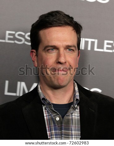 "LOS ANGELES - MAR 3:  Ed Helms arrives at the ""Limitless"" Los Angeles Screening on March 03, 2011 in Hollywood, CA"