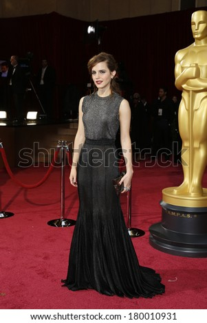 LOS ANGELES - MAR 2:: Emma Watson  at the 86th Annual Academy Awards at Hollywood & Highland Center on March 2, 2014 in Los Angeles, California - stock photo