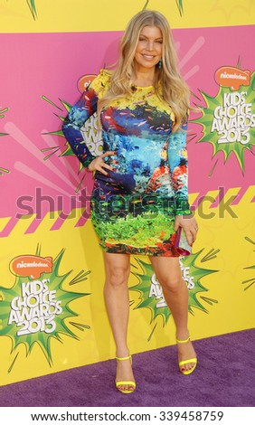 LOS ANGELES - MAR 23 - Fergie arrives at the Nickelodeons 2013 Kids Choice Awards on March 23,  2013 in Los Angeles, CA              - stock photo