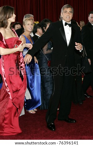 LOS ANGELES - MAR 7:  George Clooney, Elisabetta Canalis arrives at the 82nd Annual Academy Awards, Oscars, on March 7, 2010 at the Kodak Theatre in Los Angeles, California on March 7, 2010.