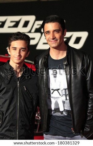 LOS ANGELES - MAR 6: Georges Marini, Gilles Marini at the premiere of DreamWorks Pictures' 'Need For Speed' at TCL Chinese Theater on March 6, 2014 in Los Angeles, California - stock photo