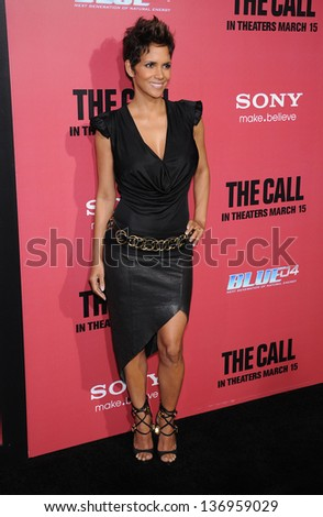 "LOS ANGELES - MAR 05:  Halle Berry arrives to the ""The Call"" Los Angeles Premiere  on March 05, 2013 in Hollywood, CA. - stock photo"