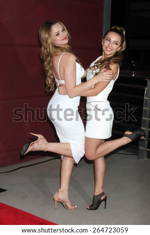 """LOS ANGELES - MAR 27:  Hunter King, Lexi Ainsworth at the """"A Girl Like Her"""" Screening at the ArcLight Hollywood Theaters on March 27, 2015 in Los Angeles, CA - stock photo"""