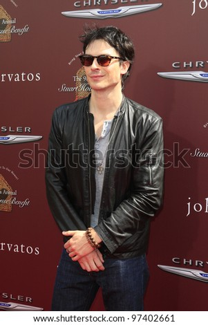 LOS ANGELES - MAR 11:  Ian Somerhalder arrives at the 9th Annual John Varvatos Stuart House Benefit at the John Varvatos Store on March 11, 2012 in West Hollywood, CA