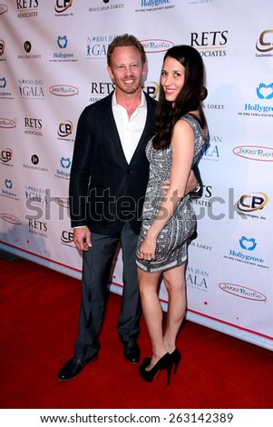 LOS ANGELES - MAR 18:  Ian Ziering, Erin Kristine Ludwig at the Norma Jean Gala at the Taglyan Complex on March 18, 2015 in Los Angeles, CA - stock photo