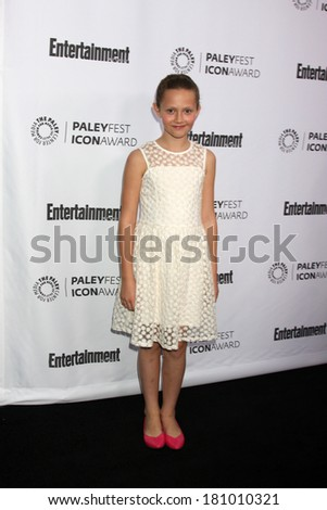 LOS ANGELES - MAR 10:  Iris Apatow at the PALEYFEST Icon Award IHO Judd Apatow at Paley Center For Media on March 10, 2014 in Beverly Hills, CA - stock photo