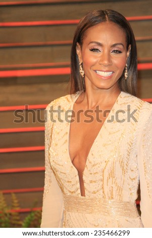 LOS ANGELES - MAR 2:  Jada Pinkett Smith at the 2014 Vanity Fair Oscar Party at the Sunset Boulevard on March 2, 2014 in West Hollywood, CA - stock photo