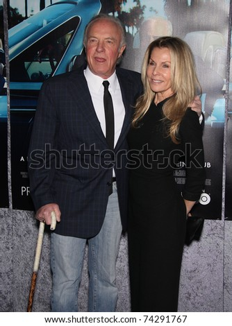 LOS ANGELES - MAR 22:  James Caan & Wife arrive to 'His Way' Los Angeles Premiere  on March 23,2011 in Hollywood, CA