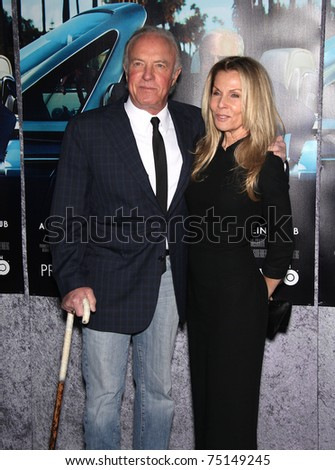 LOS ANGELES - MAR 22:  James Caan & Wife arrives to 'His Way' Los Angeles Premiere  on March 23, 2011 in Hollywood, CA