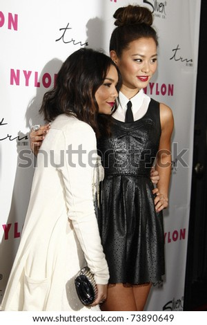 LOS ANGELES - MAR 24:  Jamie Chung, Vanessa Hudgens at the 12th Anniversary Issue party for Nylon magazine at Tru Hollywood in Los Angeles, California on March 24, 2011.