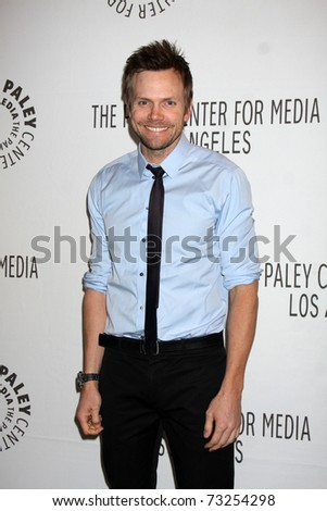"LOS ANGELES - MAR 15: Joel McHale arriving at the ""Community"" PaleyFest 2011 at Saban Theatre on March 15, 2011 in Beverly Hills, CA"