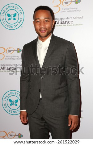 LOS ANGELES - MAR 17:  John Legend at the 2015 Impact Awards Dinner at the Beverly Wilshire Hotel on March 17, 2015 in Beverly Hills, CA - stock photo
