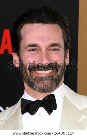 LOS ANGELES - MAR 25:  Jon Hamm at the Mad Men Black & Red Gala at the Dorthy Chandler Pavillion on March 25, 2015 in Los Angeles, CA - stock photo