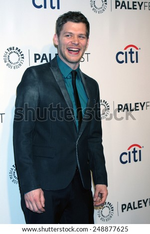 """LOS ANGELES - MAR 22:  Joseph Morgan at the PaleyFEST 2014 - """"The Vampire Diaries"""" & """"The Originals"""" at Dolby Theater on March 22, 2014 in Los Angeles, CA - stock photo"""
