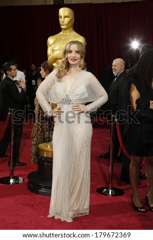 LOS ANGELES - MAR 2:  Julie Delpy at the 86th Academy Awards at Dolby Theater, Hollywood & Highland on March 2, 2014 in Los Angeles, CA - stock photo