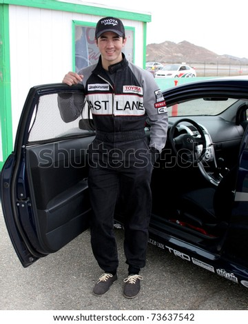LOS ANGELES - MAR 19:  Kevin Jonas at the Toyota Pro/Celebrity Race Training Session at Willow Springs Speedway on March 19, 2011 in Rosamond, CA