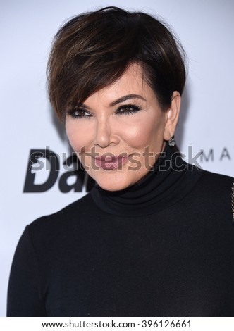 LOS ANGELES - MAR 20:  Kris Jenner arrives to the 2nd Annual Fashion Los Angeles Awards  on March 20, 2016 in Hollywood, CA.                 - stock photo