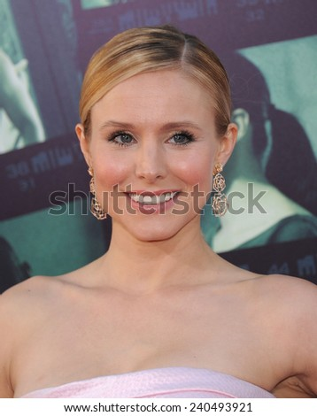 "LOS ANGELES - MAR 12:  Kristen Bell arrives to the """"Veronica Mars"" Los Angeles Premiere  on March 12, 2014 in Hollywood, CA                 - stock photo"