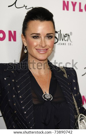 LOS ANGELES - MAR 24:  Kyle Richards at the 12th Anniversary Issue party for Nylon magazine at Tru Hollywood in Los Angeles, California on March 24, 2011.