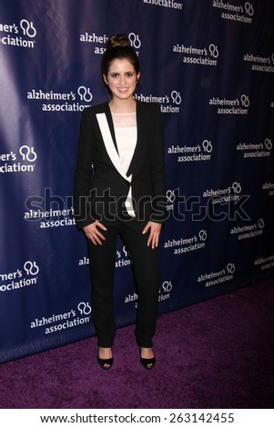 LOS ANGELES - MAR 18:  Laura Marano at the 23rd Annual A Night at Sardi's to benefit the Alzheimer's Association at the Beverly Hilton Hotel on March 18, 2015 in Beverly Hills, CA - stock photo