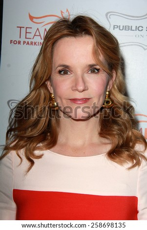 LOS ANGELES - MAR 7:  Lea Thompson at the Raising The Bar To End Parkinsons Event at the Public School 818 on March 7, 2015 in Sherman Oaks, CA - stock photo