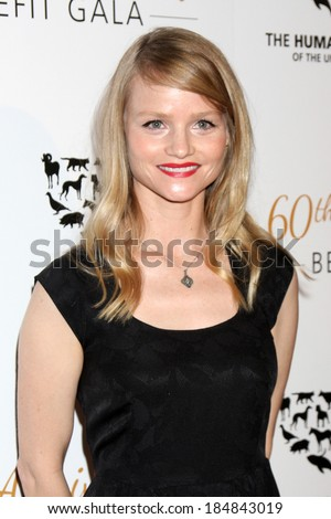 LOS ANGELES - MAR 29:  Lindsay Pulsipher at the Humane Society Of The United States 60th Anniversary Gala at Beverly Hilton Hotel on March 29, 2014 in Beverly Hills, CA
