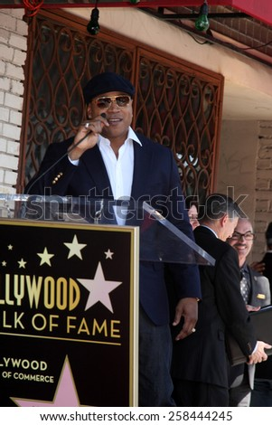 LOS ANGELES - MAR 5:  LL Cool J, James Todd Smith at the Chris O'Donnell Hollywood Walk of Fame Star Ceremony at the Hollywood Blvd on March 5, 2015 in Los Angeles, CA - stock photo