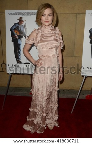 LOS ANGELES - MAR 22:  Maddie Hasson at the I Saw the Light LA Premiere at the Egyptian Theatre on March 22, 2016 in Los Angeles, CA - stock photo