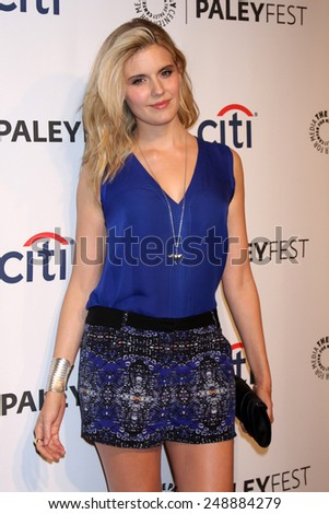 "LOS ANGELES - MAR 16:  Maggie Grace at the PaleyFEST - ""Lost"" Reunion at Dolby Theater on March 16, 2014 in Los Angeles, CA - stock photo"