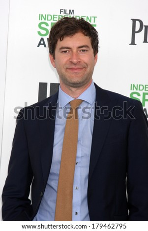 LOS ANGELES - MAR 1:  Mark Duplass at the Film Independent Spirit Awards at Tent on the Beach on March 1, 2014 in Santa Monica, CA