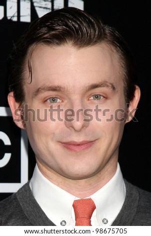"""LOS ANGELES - MAR 26:  Marshall Allman arrives at  the AMC's """"The Killing"""" Season 2 Premiere at the ArcLight Theaters on March 26, 2012 in Los Angeles, CA - stock photo"""