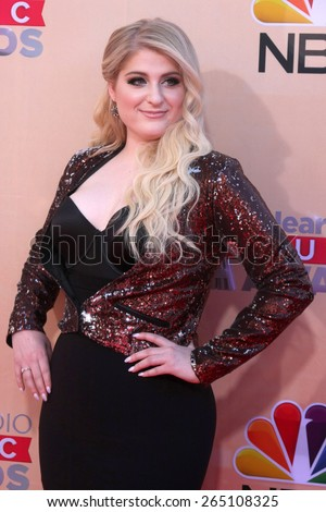 LOS ANGELES - MAR 29:  Meghan Trainor at the 2015 iHeartRadio Music Awards at the Shrine Auditorium on March 29, 2015 in Los Angeles, CA - stock photo
