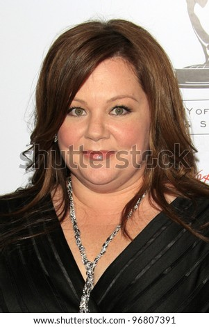 LOS ANGELES - MAR 1:  Melissa McCarthy arrives at the Academy of Television Arts & Sciences 21st Annual Hall of Fame Ceremony at the Beverly Hills Hotel on March 1, 2012 in Beverly Hills, CA - stock photo