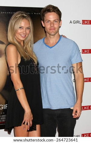 """LOS ANGELES - MAR 27:  Melissa Ordway, Lachlan Buchanan at the """"A Girl Like Her"""" Screening at the ArcLight Hollywood Theaters on March 27, 2015 in Los Angeles, CA - stock photo"""