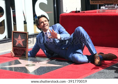 LOS ANGELES - MAR 10: Mexican actor Eugenio Derbez at a ceremony where Eugenio Derbez is honored with a star on the Hollywood Walk of Fame on March 10, 2016 in Los Angeles, California - stock photo