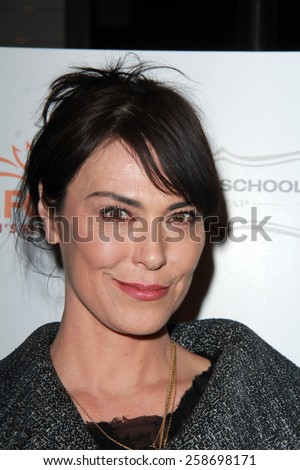LOS ANGELES - MAR 7:  Michelle Forbes at the Raising The Bar To End Parkinsons Event at the Public School 818 on March 7, 2015 in Sherman Oaks, CA - stock photo