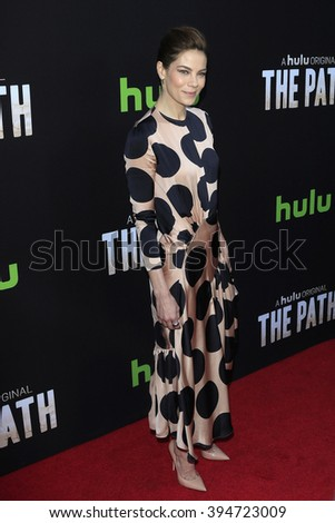 LOS ANGELES - MAR 21: Michelle Monaghan at the Premiere of 'The Path' at Arclight Hollywood on March 21, 2016 in Los Angeles, California - stock photo
