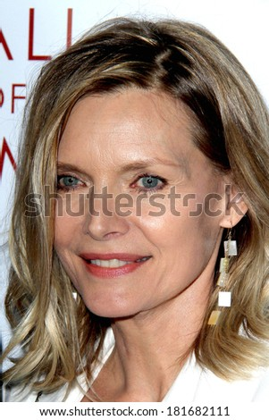 LOS ANGELES - MAR 11:  Michelle Pfeiffer at the Television Academy's 23rd Hall Of Fame Induction Gala at Beverly Wilshire Hotel on March 11, 2014 in Beverly Hills, CA - stock photo