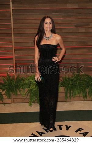 LOS ANGELES - MAR 2:  Minnie Driver at the 2014 Vanity Fair Oscar Party at the Sunset Boulevard on March 2, 2014 in West Hollywood, CA - stock photo