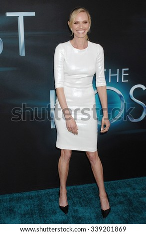 LOS ANGELES - MAR 19 - Rachel Roberts arrives at The Host World Premiere on March 19,  2013 in Los Angeles, CA              - stock photo
