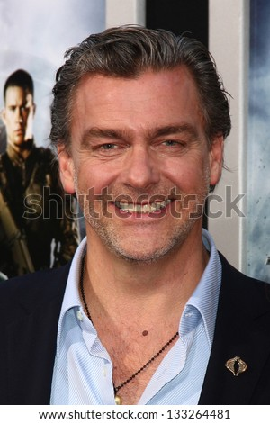 "LOS ANGELES - MAR 28:  Ray Stevenson, Elisabetta Caraccia arrives at the ""G.I. Joe: Retaliation""  LA Premiere at the Chinese Theater on March 28, 2013 in Los Angeles, CA"