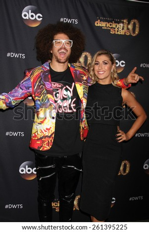 "LOS ANGELES - MAR 16:  Redfoo, Emma Slater at the ""Dancing With the Stars"" Season 20 Premiere Party at the Hyde Sunset Kitchen & Cocktails on March 16, 2015 in Los Angeles, CA"