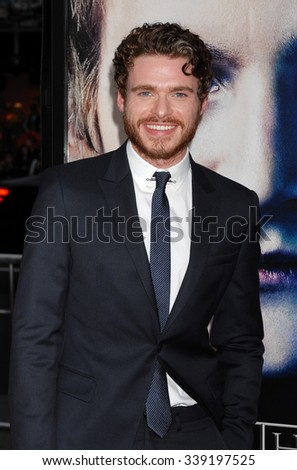 LOS ANGELES - MAR 18 - Richard Madden arrives at the Game Of Thrones Season 3 Los Angeles Premiere on March 18,  2013 in Los Angeles, CA              - stock photo