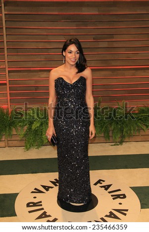 LOS ANGELES - MAR 2:  Rosario Dawson at the 2014 Vanity Fair Oscar Party at the Sunset Boulevard on March 2, 2014 in West Hollywood, CA