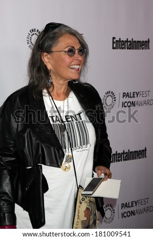 LOS ANGELES - MAR 10:  Roseanne Barr at the PALEYFEST Icon Award IHO Judd Apatow at Paley Center For Media on March 10, 2014 in Beverly Hills, CA - stock photo