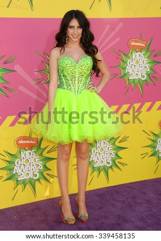 LOS ANGELES - MAR 23 - Ryan Newman arrives at the Nickelodeons 2013 Kids Choice Awards on March 23,  2013 in Los Angeles, CA              - stock photo