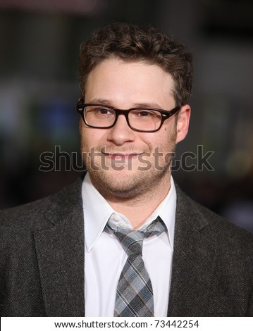"LOS ANGELES - MAR 14: Seth Rogen arrives at the ""Paul'"" premiere on March 14, 2011 in Hollywood, CA"