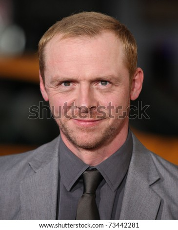 "LOS ANGELES - MAR 14: Simon Pegg arrives at the ""Paul'"" premiere on March 14, 2011 in Hollywood, CA"